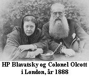 HP Blavatsky and Colonel Olcott in London, October 1888